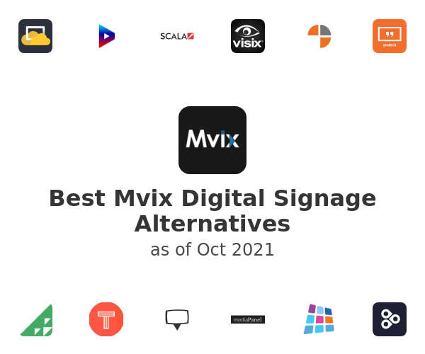Best Mvix Digital Signage Alternatives