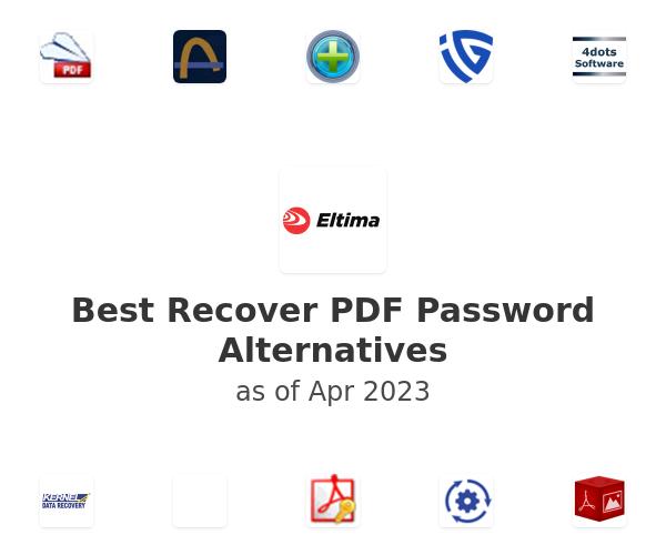 Best Recover PDF Password Alternatives