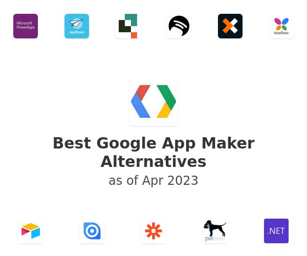 Best Google App Maker Alternatives