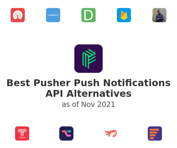 Best Pusher Push Notifications API Alternatives