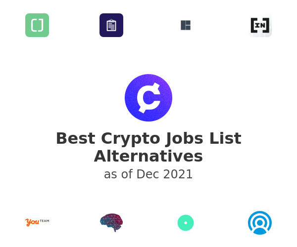 Best Crypto Jobs List Alternatives