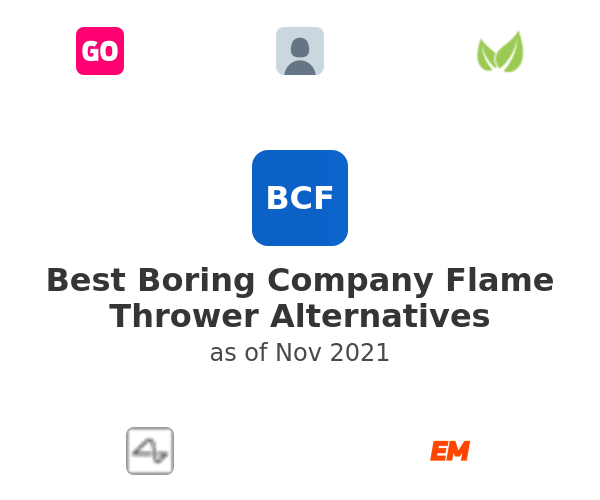 Best Boring Company Flame Thrower Alternatives