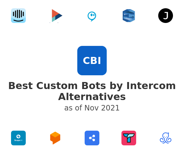 Best Custom Bots by Intercom Alternatives