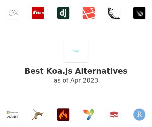 Best Koa.js Alternatives