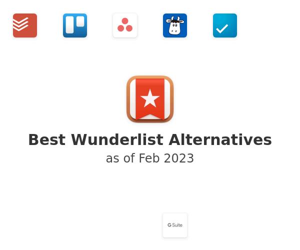 Best Wunderlist Alternatives