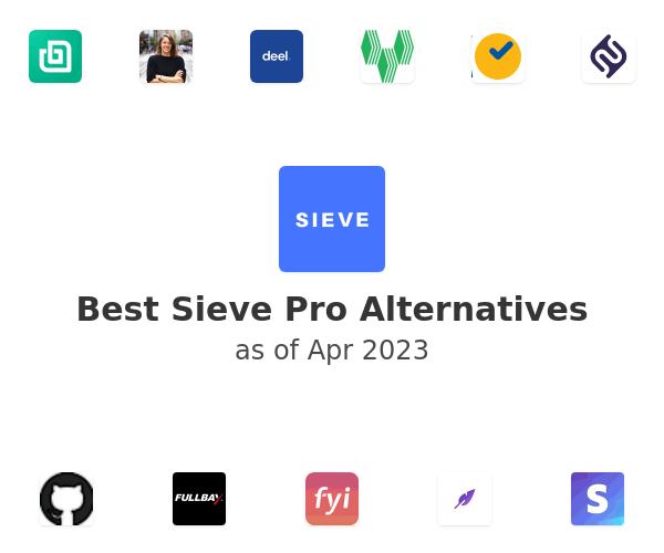 Best Sieve Pro Alternatives
