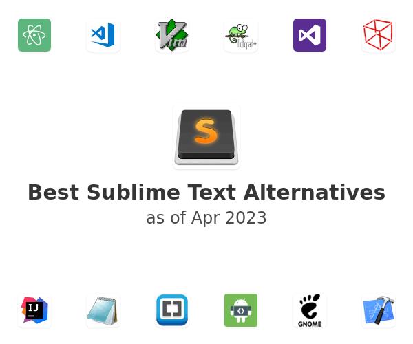 Best Sublime Text Alternatives