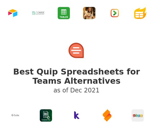 Best Quip Spreadsheets for Teams Alternatives