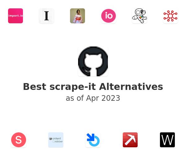 Best scrape-it Alternatives