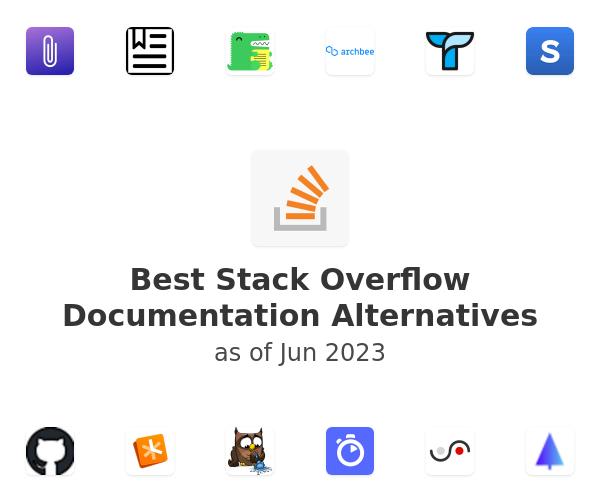 Best Stack Overflow Documentation Alternatives