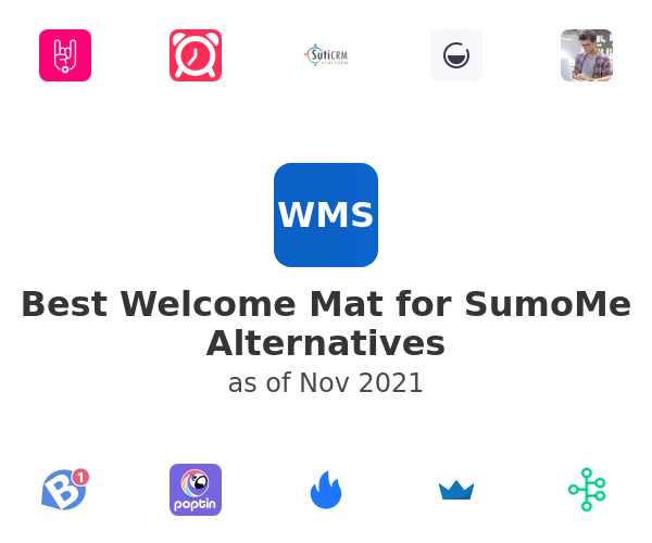 Best Welcome Mat for SumoMe Alternatives