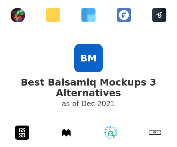 Best Balsamiq Mockups 3 Alternatives