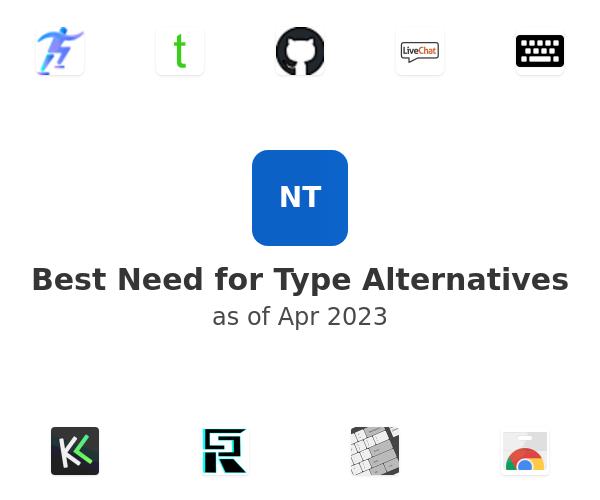 Best Need for Type Alternatives