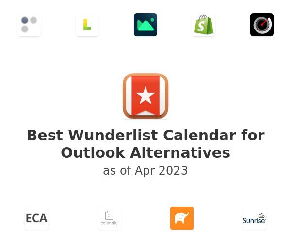 Best Wunderlist Calendar for Outlook Alternatives