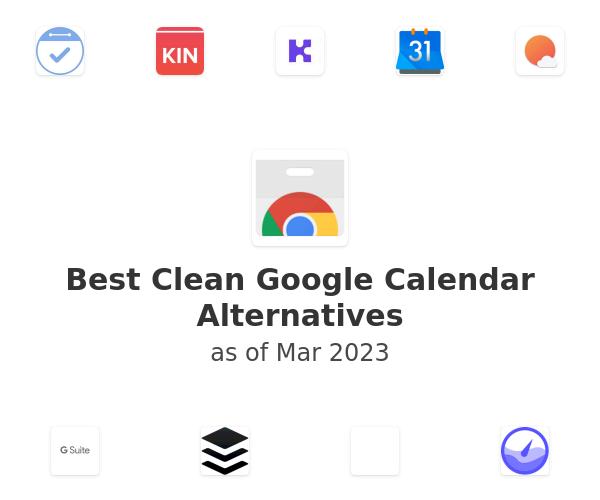 Best Clean Google Calendar Alternatives