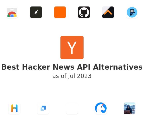 Best Hacker News API Alternatives