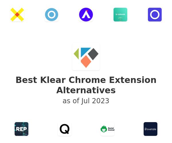 Best Klear Chrome Extension Alternatives