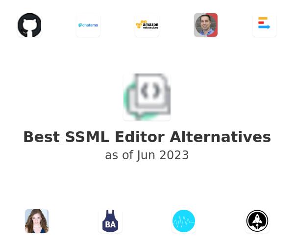 Best SSML Editor Alternatives