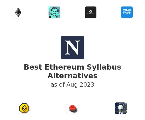 Best Ethereum Syllabus Alternatives