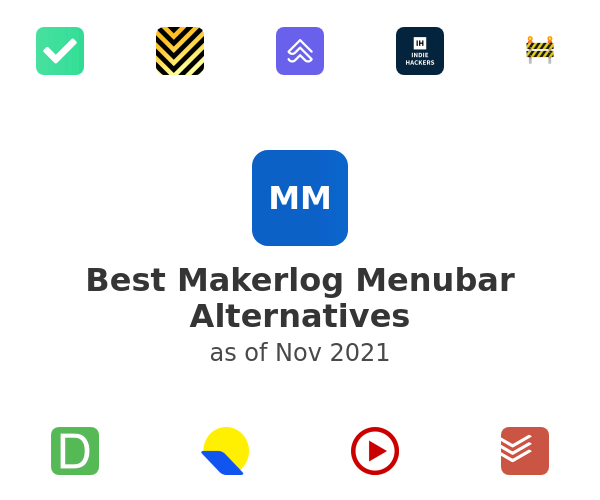 Best Makerlog Menubar Alternatives
