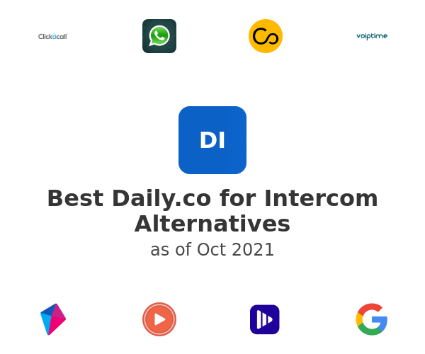 Best Daily.co for Intercom Alternatives
