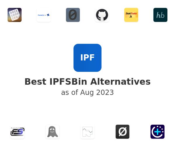 Best IPFSBin Alternatives