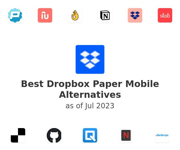 Best Dropbox Paper Mobile Alternatives