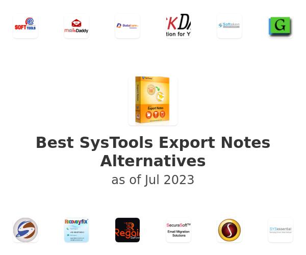 Best SysTools Export Notes Alternatives