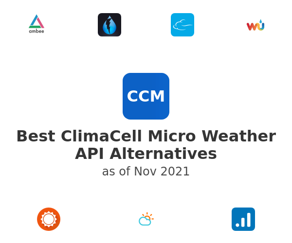 Best ClimaCell Micro Weather API Alternatives