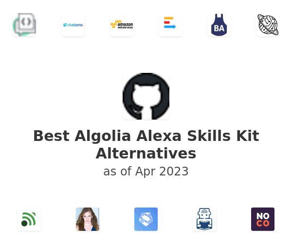 Best Algolia Alexa Skills Kit Alternatives