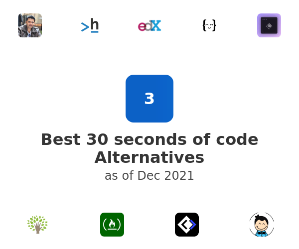 Best 30 seconds of code Alternatives