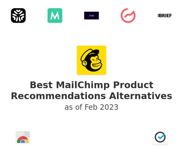 Best MailChimp Product Recommendations Alternatives