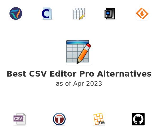 Best CSV Editor Pro Alternatives