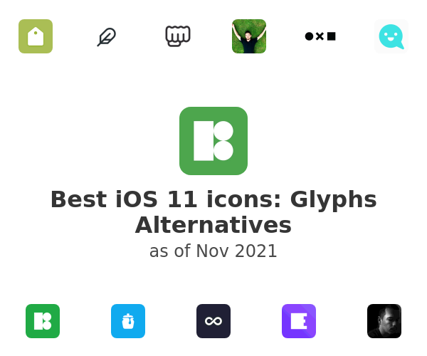Best iOS 11 icons: Glyphs Alternatives