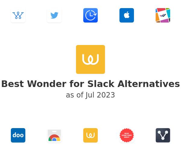Best Wonder for Slack Alternatives