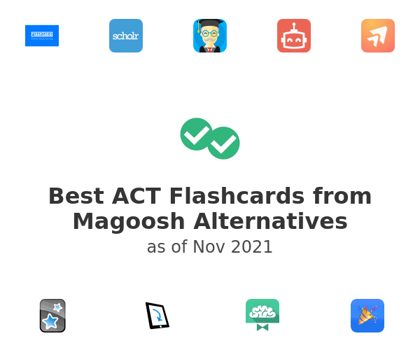 Best ACT Flashcards from Magoosh Alternatives