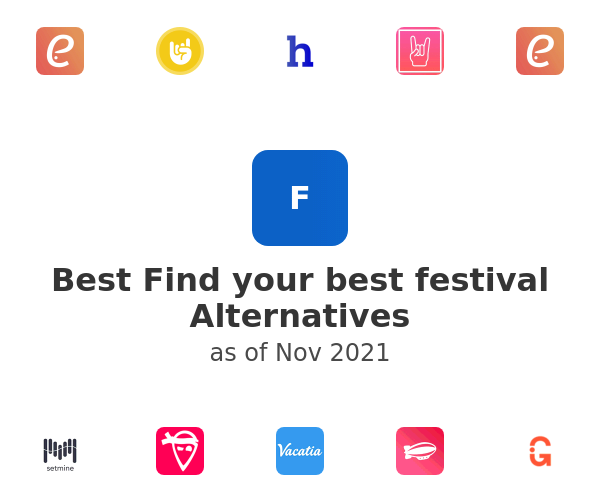 Best Find your best festival Alternatives