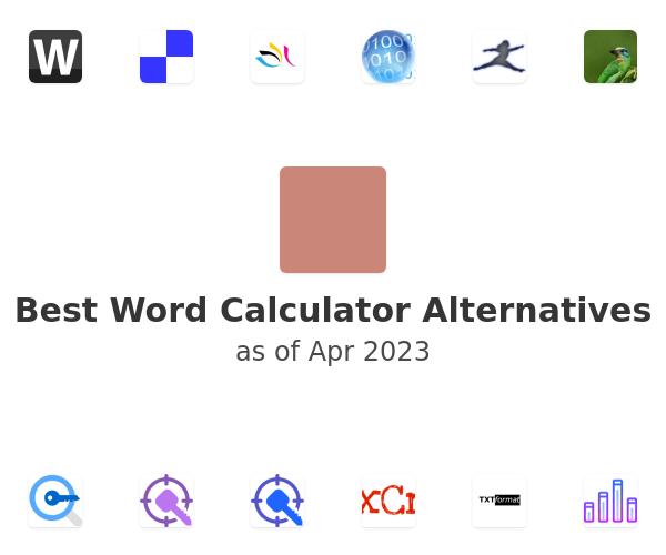 Best Word Calculator Alternatives