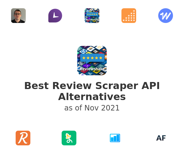 Best Review Scraper API Alternatives