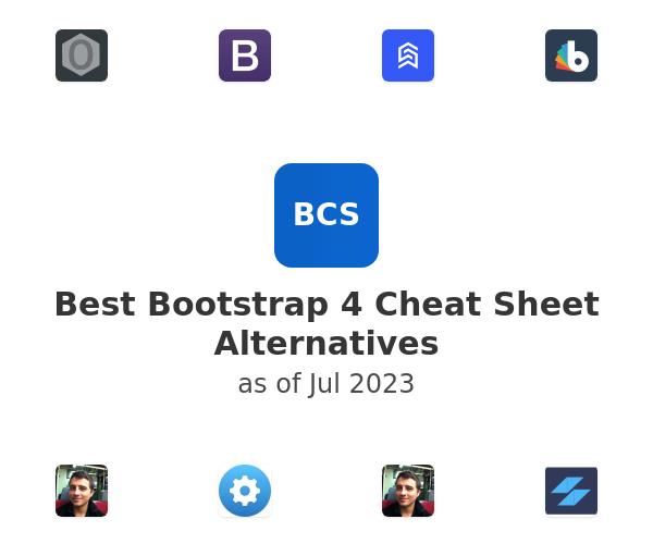 Best Bootstrap 4 Cheat Sheet Alternatives