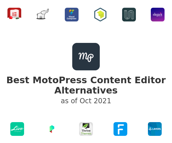 Best MotoPress Content Editor Alternatives