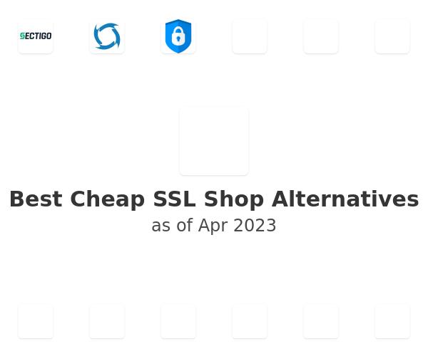 Best Cheap SSL Shop Alternatives