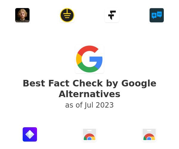 Best Fact Check by Google Alternatives