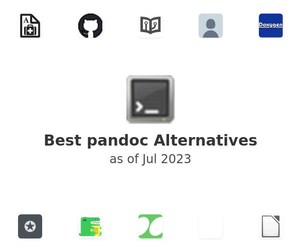 Best pandoc Alternatives