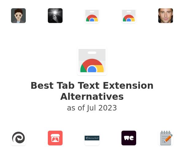 Best Tab Text Alternatives