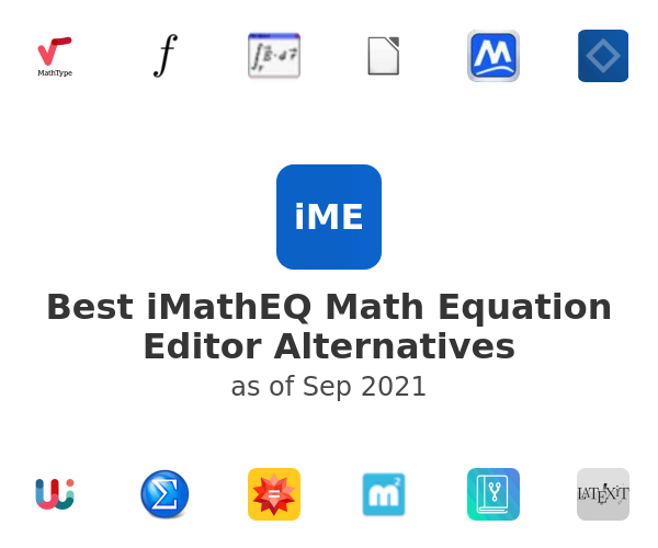 Best iMathEQ Math Equation Editor Alternatives