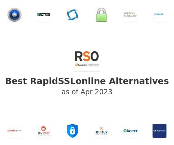 Best RapidSSLonline Alternatives