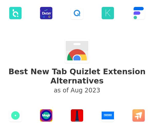 Best New Tab Quizlet Alternatives
