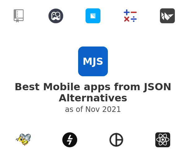Best Mobile apps from JSON Alternatives