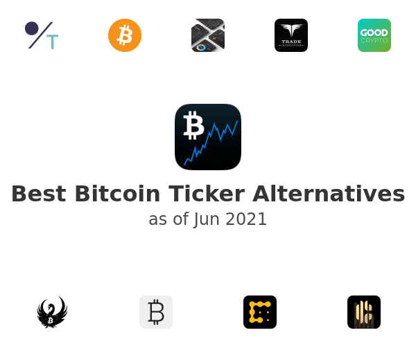 Best Bitcoin Ticker Alternatives